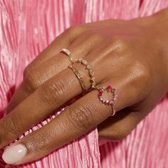 Pearl Gemstone, Diamond Gemstone, Gemstone Colors, Pink Power, Gold Diamond Wedding Band, Expensive Jewelry, Pink Ring, Pink Sapphire, Red Gold