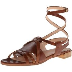 Stuart Weitzman Women's Greek Huarache Sandal (2 315 UAH) ❤ liked on Polyvore featuring shoes, sandals, hurache sandals, ankle tie sandals, ankle tie shoes, tall shoes and ankle strap sandals