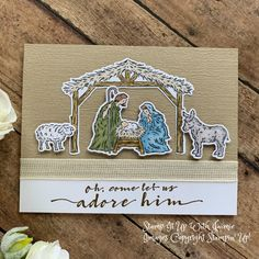 Homemade Christmas Cards, Stampin Up Christmas, Handmade Christmas, Christmas 2016, Christmas Nativity, Christmas Treats, Christmas Baking, Karten Diy, Stamping Up Cards