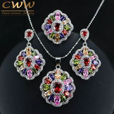 Cubic Zirconia Indian Jewelry Sets 925 Silver //Price: $25.99 & FREE Shipping //     #homesweethome #homedesign #myhome
