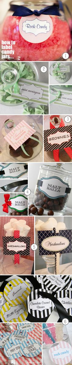 Candy Jar Tags