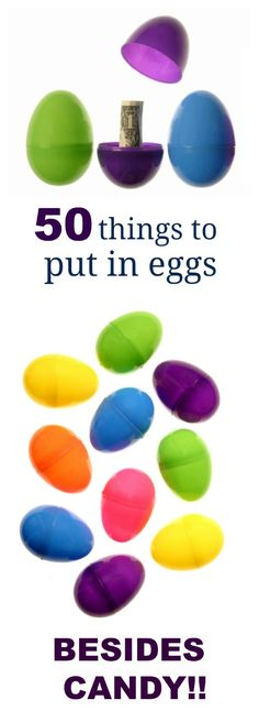 50 EGG STUFFER IDEAS THAT AREN'T CANDY- tons of great ideas here!!