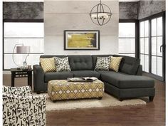 This beautiful fusion sofa is not too small yet not too large allowing it to fit perfectly in any space!