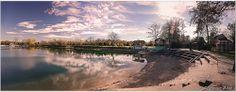 Panorama, Glavno jezero, plaža kod jedriličarskog kluba.