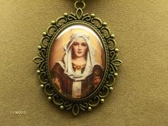 Virgin Mary pendant  Our Lady of the Rosary by Elysiumpendants, $15.00