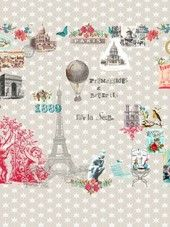 Room Seven travel memories Paris je t'aime on Juffies warehouse Kitsch, Paris 3, Girl Trends, Illustrations, Travel Memories, Color Rosa, Jaba, Beautiful Babies, Paisley Print