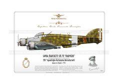 "SM.79 ""Sparviero"" ""281-5"" JP-931, Regia Aeronautica, 281a Squadriglia Autonoma Aerosiluranti, pilotato dal Capitano Emanuele Buscaglia, Godurra (Rodi) 1941"