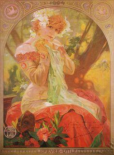 Alphonse Mucha - C12 Lefevre-Utile, Sarah Bernhardt - La Princesse Lointaine, 1903. | by K.G.23