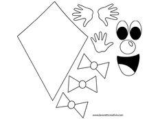 Aquiloni da realizzare con i cartoncini colorati e da attaccare ai vetri delle finestre dell'aula di scuola. Addobbi accoglienza scuola Aquiloni Materiale: