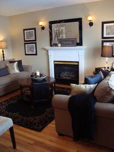 Black & Beige Living Room eclectic living room