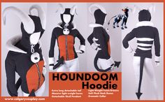 """""""HOUNDOOM Pokemon Hoodie from calgarycosplay.com"""" pinning for this website, might be good to get a hat from."""