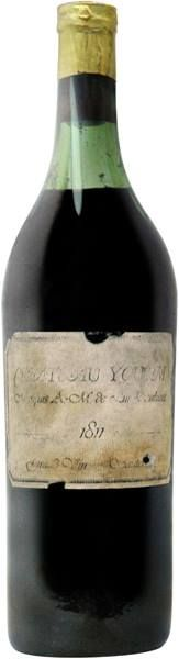 "A DISCOVERY OF WITCHES real-time reading, October 1 (chapter 12): ""Matthew shook his head. 'No. It was 1811.' I stared in astonishment at the almost two-hundred-year-old wine in my glass, fearing it might evaporate before my eyes.""  Photo of a bottle of 1811 Château Yquem (now known as Château d'Yquem, but that name was not used in the 1811 label). This was the famous ""comet vintage"" that Matthew gives to Diana. Via @Joo Hee Harkness facebook"