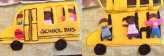 School Bus Busy Book / Quiet book DIY tutorial with FREE pattern