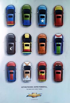 Rhythm - This advertisement portrays regular rhythm. The cars are congruent in size and are placed near each other in rows, creating repetitive movements. Cool Magazine, Magazine Ads, Magazine Design, Principles Of Design, Best Ads, Game Assets, Game Design, Retro Fashion, Advertising