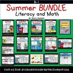 Summer BUNDLE Distance Learning by Sherry Clements | TpT