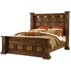 ART Furniture - Marbella King Panel Bed in Pine Tobacco - Wood Bed Design, Bed Frame Design, Bedroom Bed Design, Bedroom Sets, Rustic Bedroom Furniture, Art Furniture, Furniture Design, Traditional Bedroom, Panel Bed