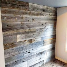 Today's feature wall install - reclaimed grey barn board with a hint of brown in it. This was a smaller wall for some nice clients in the West end or Toronto. #greyboard #featurewall #rusticwall #barnboard #barnwood #barn #reclaimed #reclaimedwood #rustic #rusticwood #igers #toronto #hamilton #hamont #tdot #the6ix #durhamregion #durham #pickering #ajax #whitby #oshawa #905 #woodworking #ontariowood #maker #customfurniture