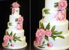 pretty 3 dimensional cakes   multi dimensional cake decorating peony wedding cake by Atlanta Cakes