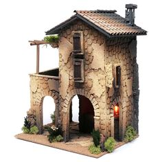 1 million+ Stunning Free Images to Use Anywhere Christmas Nativity Scene, Christmas Tree Crafts, Christmas Villages, Cement Art, Medieval Houses, Free To Use Images, Ceramic Houses, Cardboard Crafts, Fairy Houses