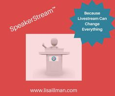 The art of speaking can level-up your business and accelerate your success. With Livestream apps like Periscope and Facebook, there really is no excuse for not honing the craft of speaking.  You can live in fear or you can get results, but you can't do both.   Join SpeakerStream™ today. http://lisaillman.com/SpeakerStream