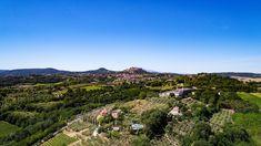 Villa Cicolina near Montepulciano (SI). Aerial photo by Max Morriconi.