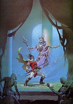 Michael Moorcock's The Bane of the Black Sword by Michael Whelan (1977, DAW Books)