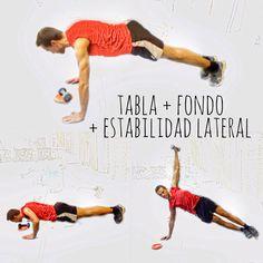 """Tabla + Fondo + Estabilización Lateral 4"""" con mancuerna."""