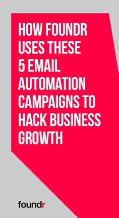 Foundr reveals the five email automation campaigns that you need to use to grow your business. Promote Your Business, Start Up Business, Online Business, Business Coaching, Business Class, Email Marketing Tools, Seo Marketing, Foundr Magazine, Email Subject Lines