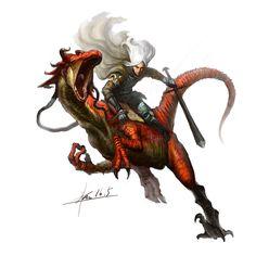 ArtStation - dragon cavalry, Groenendael .
