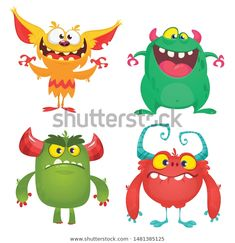 Find Cute Cartoon Monsters Set Cartoon Monsters stock images in HD and millions of other royalty-free stock photos, illustrations and vectors in the Shutterstock collection. Thousands of new, high-quality pictures added every day. Monster Design, Monster S, Goblin, Cartoon Monsters, Halloween Design, Cute Cartoon, Troll, Pikachu, Alien Halloween