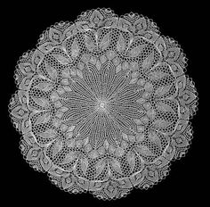 Hand knitted lace