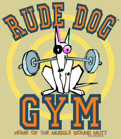 """Isn't it obvious - """" Home of the Muscle Bound Mutt"""". Spade Tattoo, Mutt Dog, Dog Pounds, Dog Branding, Surfing, Muscle, Lol, Surf, Muscles"""