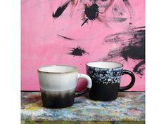 HK-Living Cappuccino krus keramisk sett 4