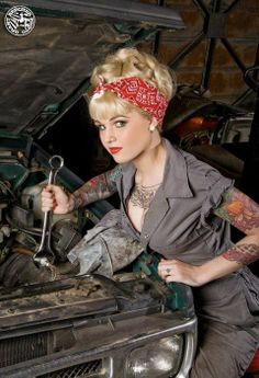 25 super Ideas for vintage tattoo women pin up rockabilly hair Pin Up Vintage, Retro Pin Up, Look Vintage, Vintage Girls, Retro Style, Vintage Art, Rockabilly Pin Up, Moda Rockabilly, Rockabilly Fashion