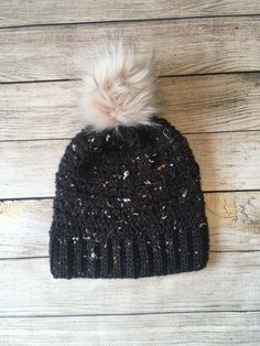 Fur Pom Pom, Winter Day, Tweed, Faux Fur, My Etsy Shop, Rock, Hats, Stone, Hat