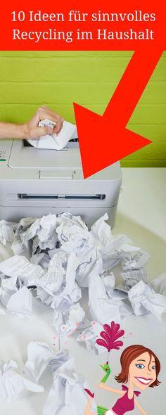 10 Ideen für sinnvolles Recycling im Haushalt – Ich zeige dir heute, wie du durch sinnvolles Recycling im Haushalt nicht nur zum Umweltschutz beiträgst, sondern auch noch deinen eigenen Geldbeutel schonst.