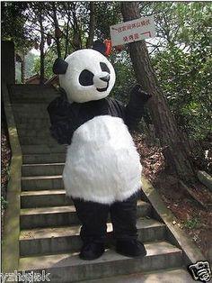 Panda Bear Mascot Costume Fancy Dress Adult Suit Party Dress   Unisex Fancy Dress   Fancy Dress - Zeppy.io