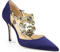 Manolo Blahnik Zullin Satin Jeweled d'Orsay Pumps My favorite shoe designer! Cute Shoes, Me Too Shoes, Manolo Blahnik Heels, Evening Shoes, Crazy Shoes, Beautiful Shoes, Wedding Shoes, Bridal Shoes, Wedding Jewelry