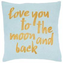 """Expressions Moon & Back Pillow Cover – 18"""" x 18"""""""