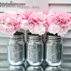 sequin mason jar vase how to - It All Started With Paint