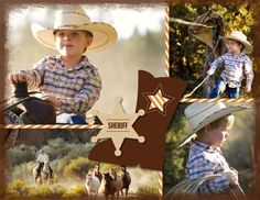Rugged All Boy Sheriff Photo Panel from Creative Memories