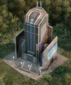 Concept Architecture, Futuristic Architecture, Tea Table Design, Spaceship Interior, Future Buildings, Sci Fi Environment, Alien Concept Art, Futuristic Background, No Man's Sky