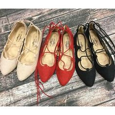 The promise of an early spring has us excited to bust out these Lace Up Ballet Flats from Charles Albert Shoes!
