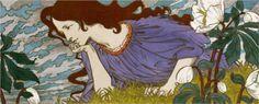 Anxiété Eugène Grasset Date: 1897 Style: Art Nouveau Lausanne, Eugene Grasset, Academic Art, Art Nouveau Design, Name Art, Art Database, Expositions, Art Deco Diamond, Art History