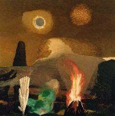 David Inshaw  Bonfire Night, Hay Bluff I