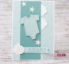 20151021 Stampin Up Baby Geburt Zum Nachwuchs Karte Junge Framelits Alles fürs Baby Baby s First_