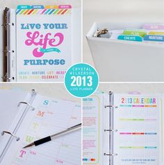 Crystal Wilkerson 2013 Life Planner. #organizing #planner