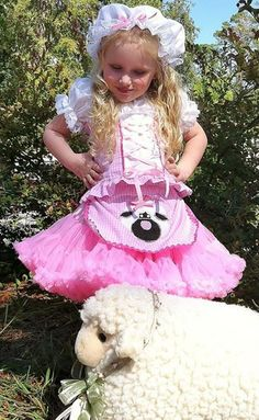Boutique custom handmade pageant girls LIttle Bo Peep or Mary Had a Little Lamb Costume by Heavenlythingsforyou on Etsy