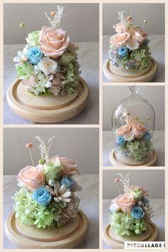 Table Flowers, Diy Flowers, Paper Flowers, Cloche Decor, Dried Flower Arrangements, Preserved Roses, Dried Flower Bouquet, How To Preserve Flowers, Flower Designs