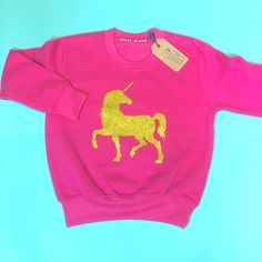 Unicorn Sweater, kids unicorn sweater, girls unicorn jumper. kids unicorn sweatshirt Keepsake Baby Gifts, New Baby Gifts, 1st Birthday Gifts, Cake Smash Outfit, Baby Wall Art, Toddler Gifts, Newborn Gifts, Pink Sweater, Trendy Baby